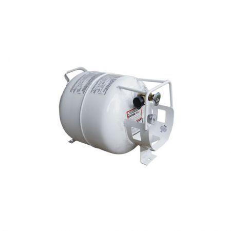Homecrest Chat Fire Pit Horizontal Propane Tank