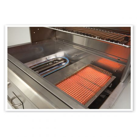 Infrared And Convection Style U-Shaped Burner Can Be Combined In Any Size Luxor Grill.