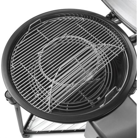 Integrated Gourmet BBQ System Hinged Cooking Grate For Weber The Summit Charcoal Grill Center