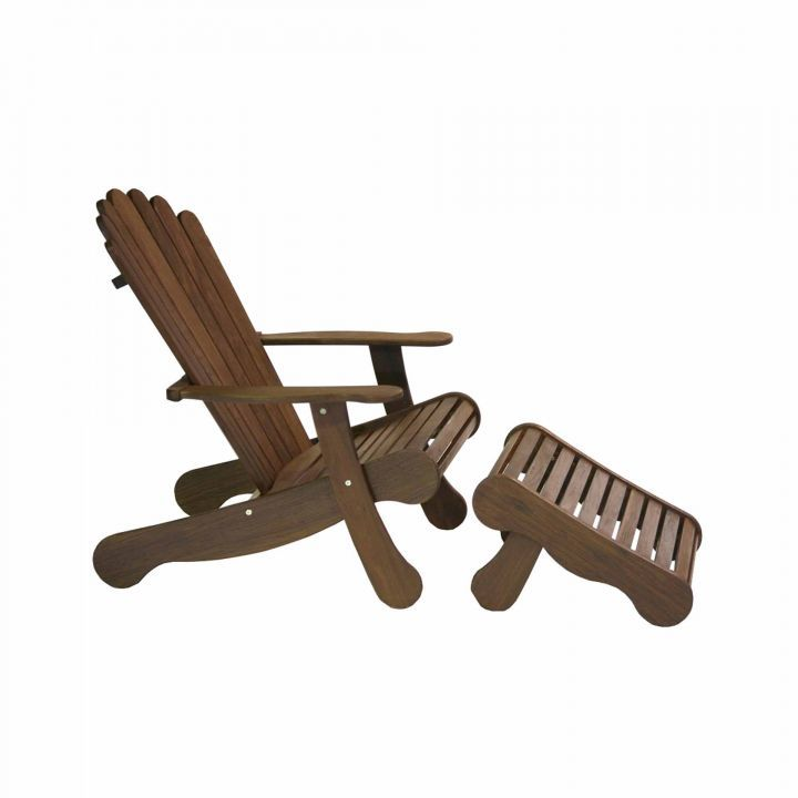 Jensen Leisure Adirondack Ottoman With Adirondack Chair