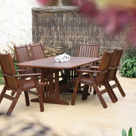 Jensen Leisure Belmont Table with Governor Chair Group