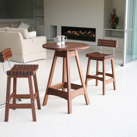 Jensen Leisure Sunset Bar Stool with Back and Venice Hi Dining Table Group