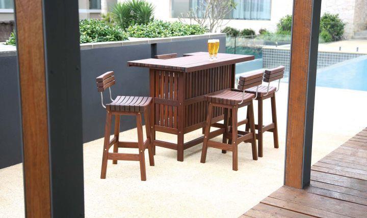 Jensen Leisure Sunset Bar and Sunset Bar Stool with Back