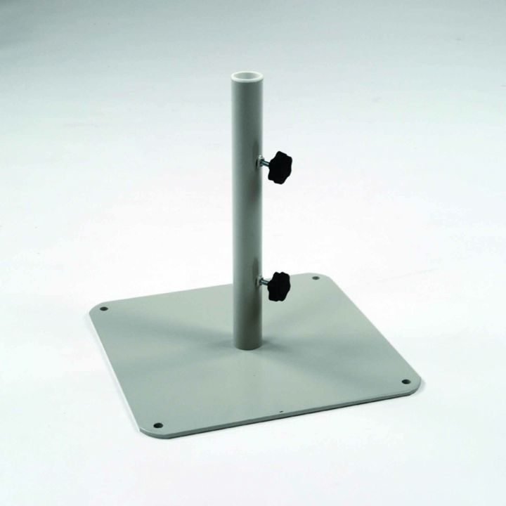 "kingsley bate steel plate 2"" pole umbrella base - leisure living 2 Inch Umbrella Base"