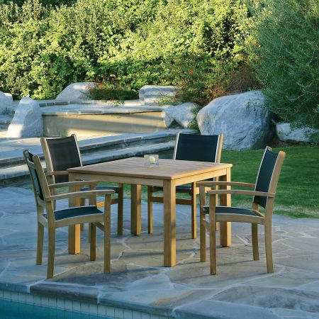 Kingsley Bate 5 Piece Dining Set.The St.Tropez Dining Arm Chair Shown With A 42