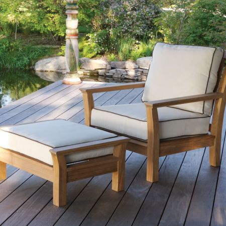 Kingsley Bate Chelsea Lounge Chair with Ottoman