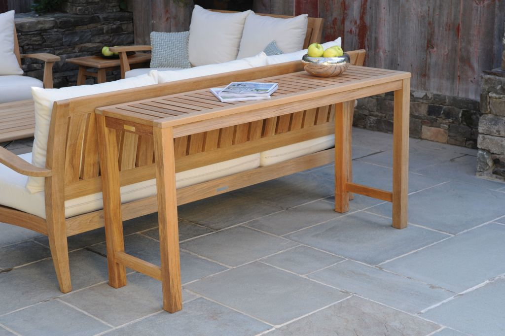 ... Kingsley Bate Classic 60x18 Rectangular Console Table 3 ...