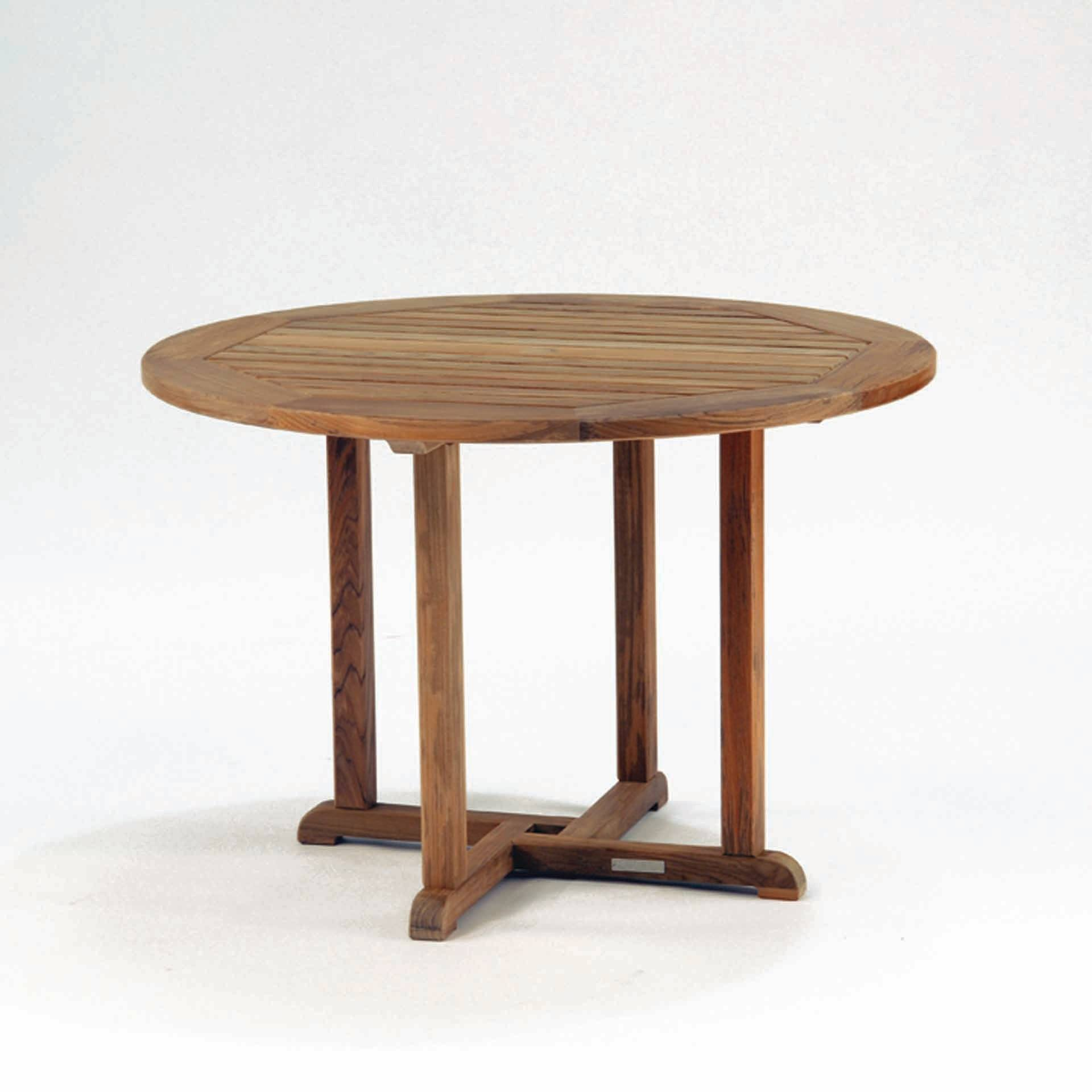 kingsley bate essex 50 round dining table   leisure living
