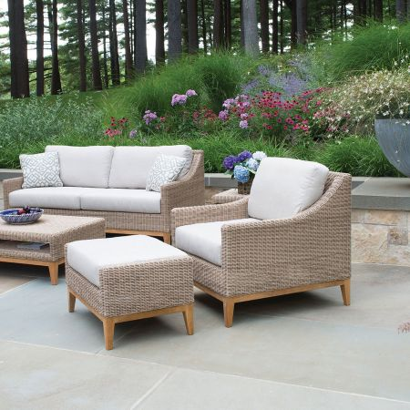 Kingsley Bate Frances Deep Seating Sofa Shown With A Lounge Chair, Ottoman, Coffee & End Table