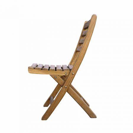 Kingsley Bate Gearheart Folding Side Chair Side View