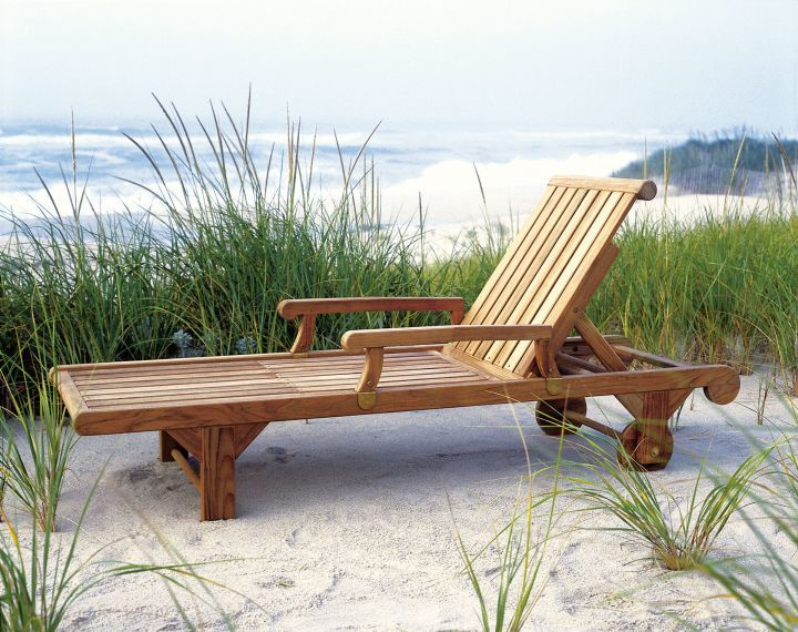 Kingsley Bate Nantucket Chaise Lounge Arm Option Side View