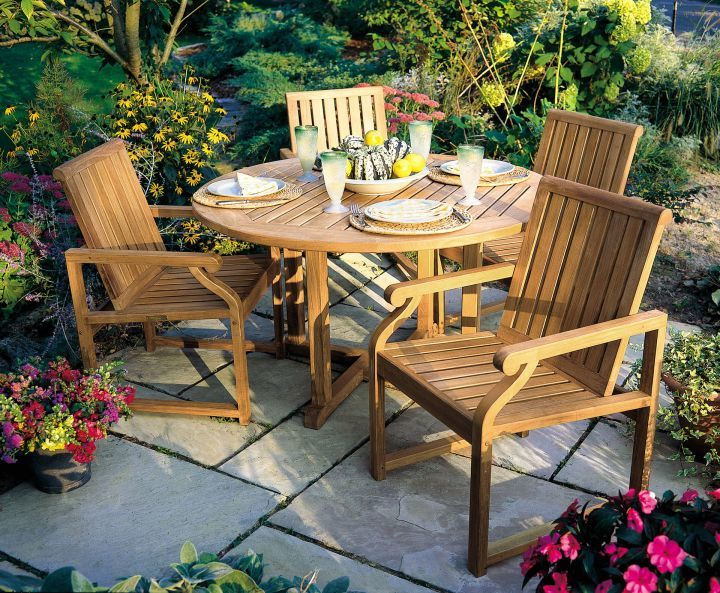 Kingsley Bate Nantucket Dining Arm Chairs Shown with Essex 50 Round Dining Table