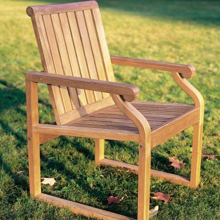 Kingsley Bate Nantucket Dining Chair Side View