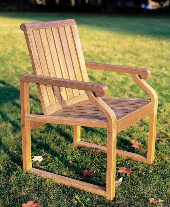 Kingsley Bate Nantucket Dining Chair Side View