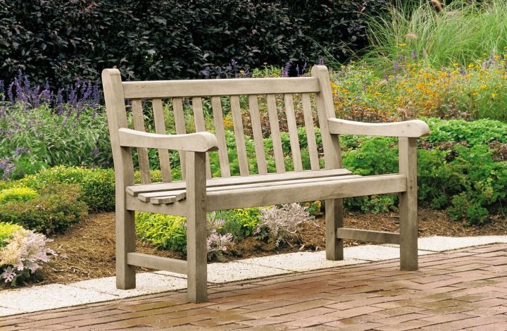 Kingsley Bate St George 4 Bench Weathered View Leisure