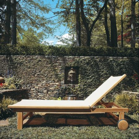Kingsley Bate St.Tropez Chaise By Rock Wall