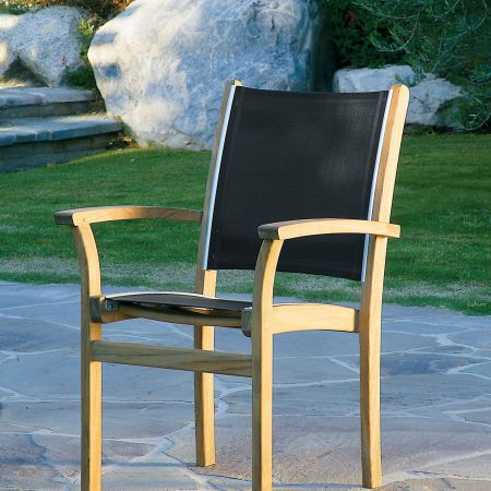 Kingsley Bate St.Tropez Dining Arm Chair With A Black Sling