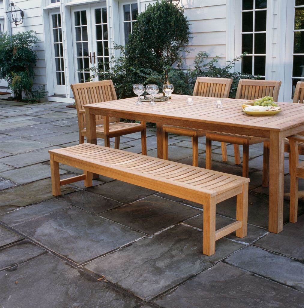 Kingsley Bate Waverley 6 Backless Bench Shown With Wainscott 85 Rectangular Dining Table And Chelsea