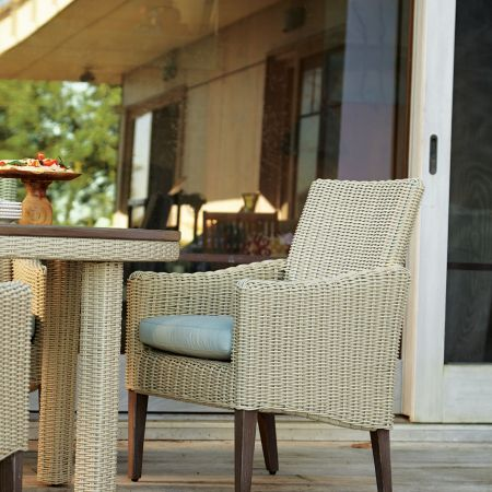 Lane Requisite Dining Arm Chair Shown With A Dining Table