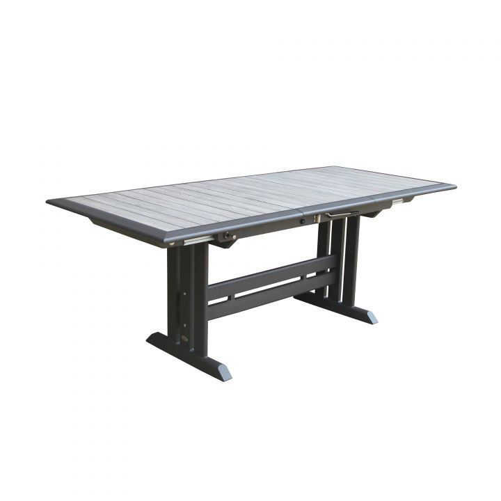 Les Jardins Hegoa 77X35″ Rectangular Extension Dining Table - Les Jardins Hegoa 77X35