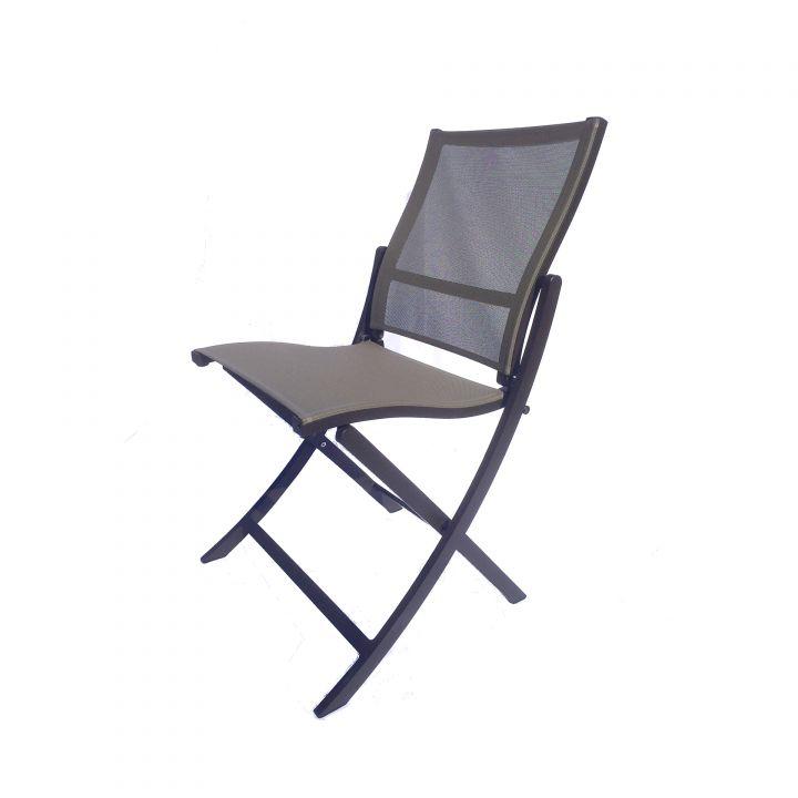 Les Jardins Teaser Brown Folding Side Chair