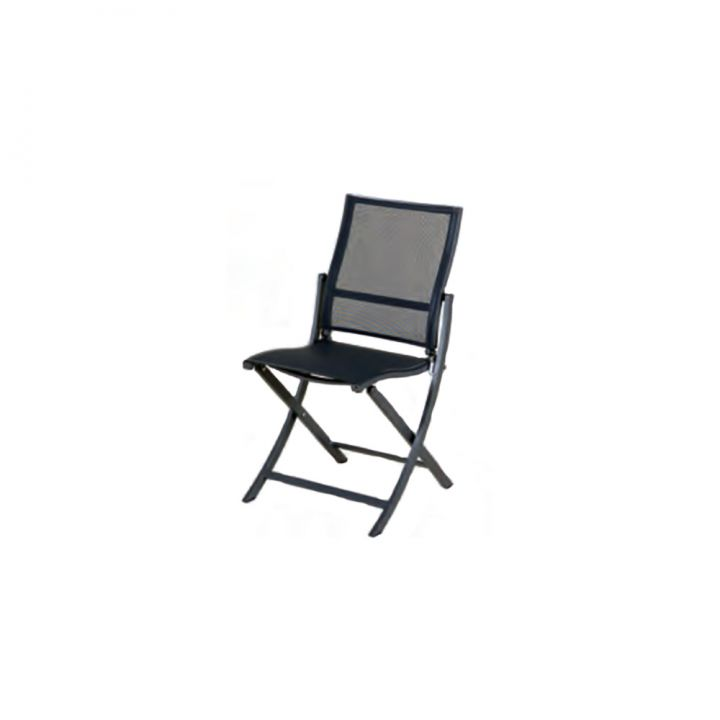 Les Jardins Teaser Grey Folding Side Chair