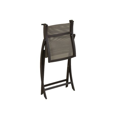 Les Jardins Teaser Folding Side Chair Standing Front View
