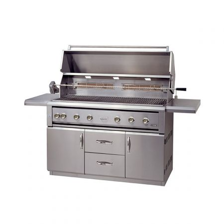 Luxor AHT-54FR-CV-L 54 Inch Free Standing Grill With Rotisserie
