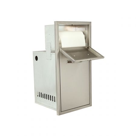 Luxor AHT-M-PTTS Medallion Opened Paper Towel Unit And Trash Pullout Combo