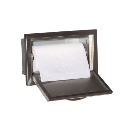 Luxor AHT-MPTH Medallion Paper Towel Holder Opened