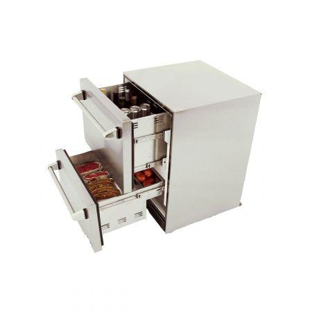 Luxor AHT-OD-RF2 Outdoor Refrigerator Opened