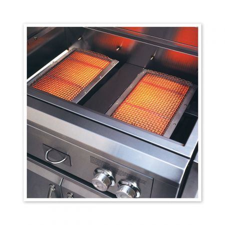 Luxor's Ceramic Infrared Burners Allow For Higher Heat Output And Professional Cooking Results.