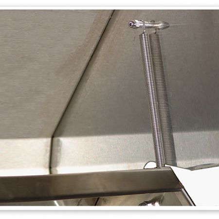 Luxor's Spring Assist Design Makes Lifting Grill Hoods Easier.