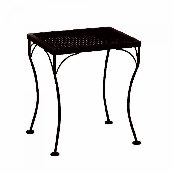 OW Lee 18×16″ Rectangular Micro Mesh Side Table