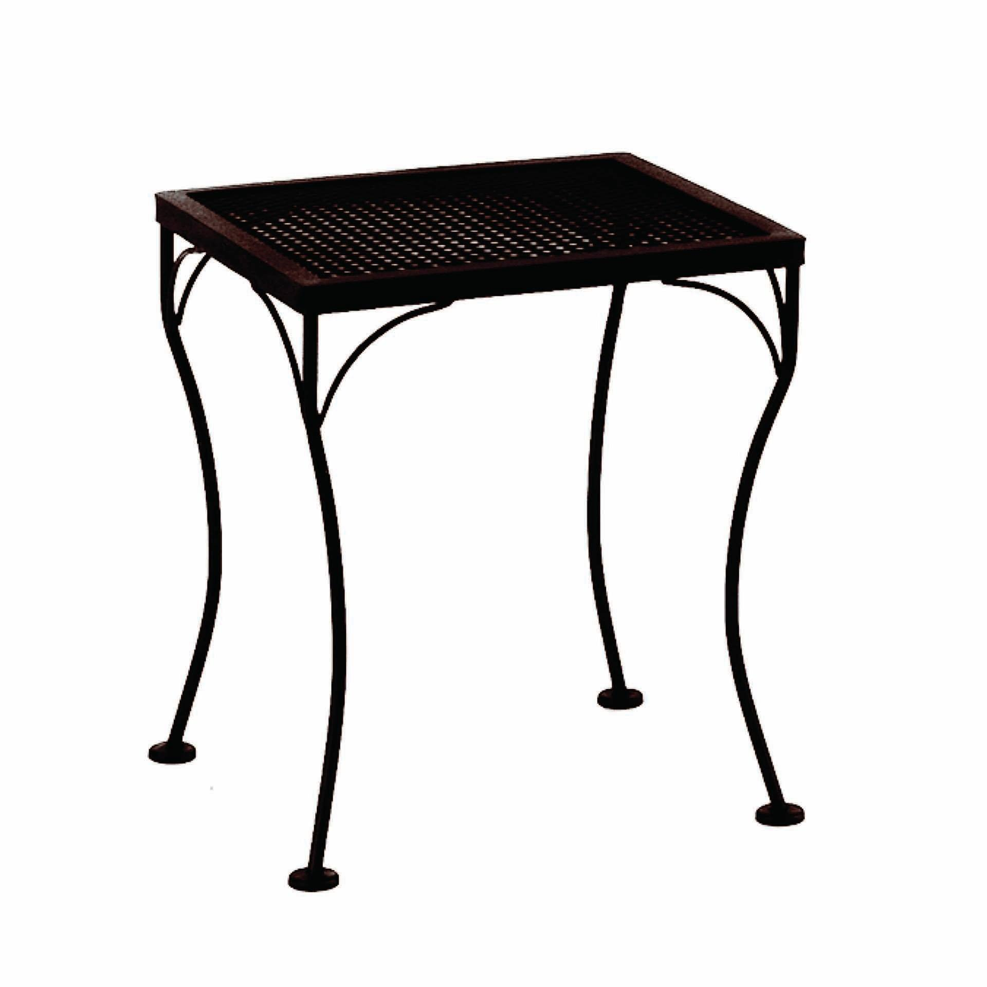 Ow Lee 18x16 Rectangular Micro Mesh Side Table Leisure