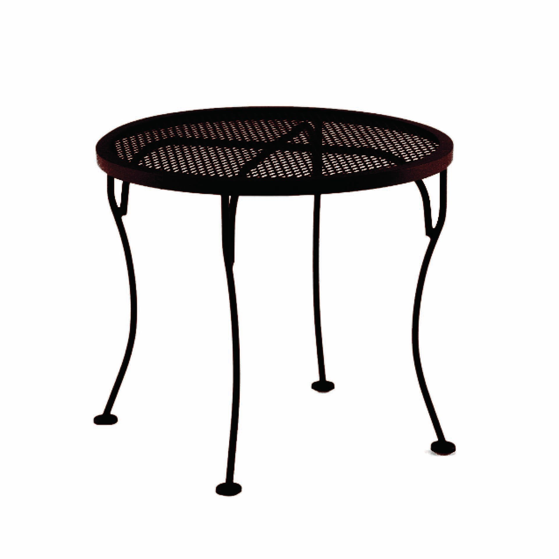 Ow Lee 24 Quot Round Micro Mesh Side Table Leisure Living