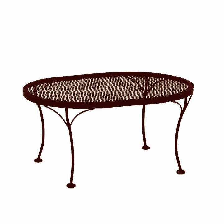 OW Lee 34x24 Oval Micro Mesh Coffee Table