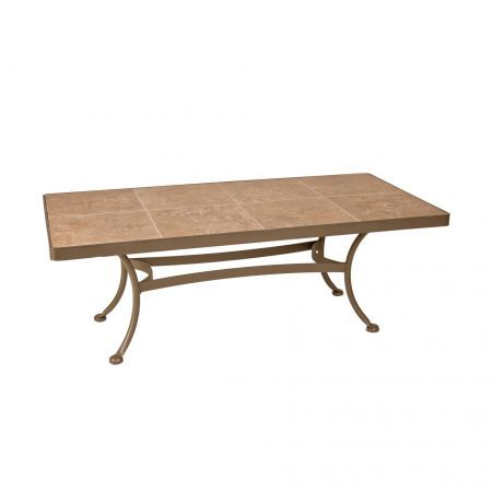 OW Lee 50x28 Rectangular Porcelain Cocktail Table.