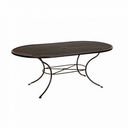 OW Lee 72x42 Oval Micro Mesh Dining Table