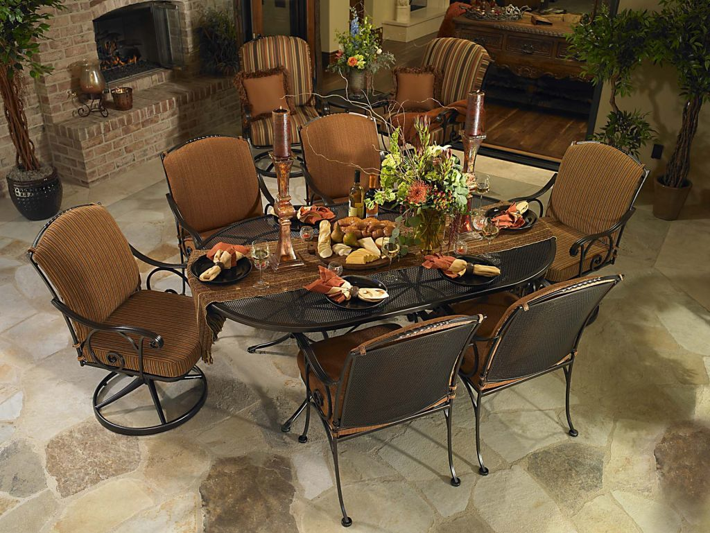 Ow Lee 72x42 Quot Oval Micro Mesh Dining Table Leisure Living