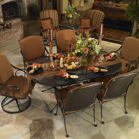 OW Lee 72x42 Oval Micro Mesh Table