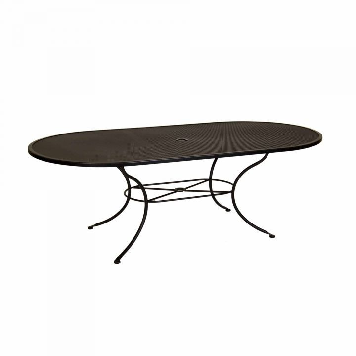 OW Lee 84x44 Oval Micro Mesh Dining Table