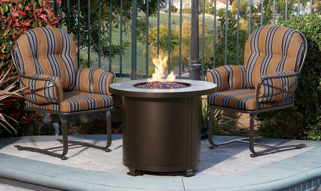 Ow Lee Casual Fireside 30 Quot Round Santorini Chat Fire Pit