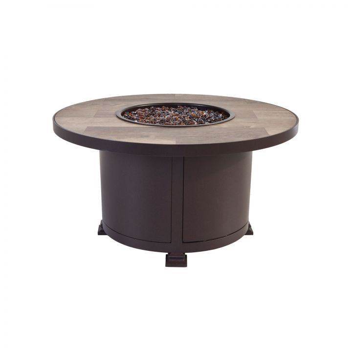 OW Lee Casual Fireside 36″ Round Santorini Occasional Height Fire Pit