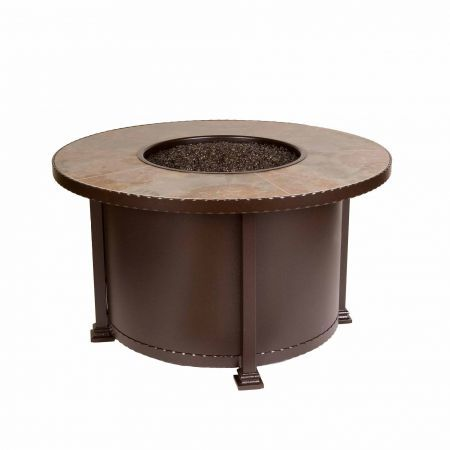 OW Lee Casual Fireside 42 Round Santorini Chat Fire Pit