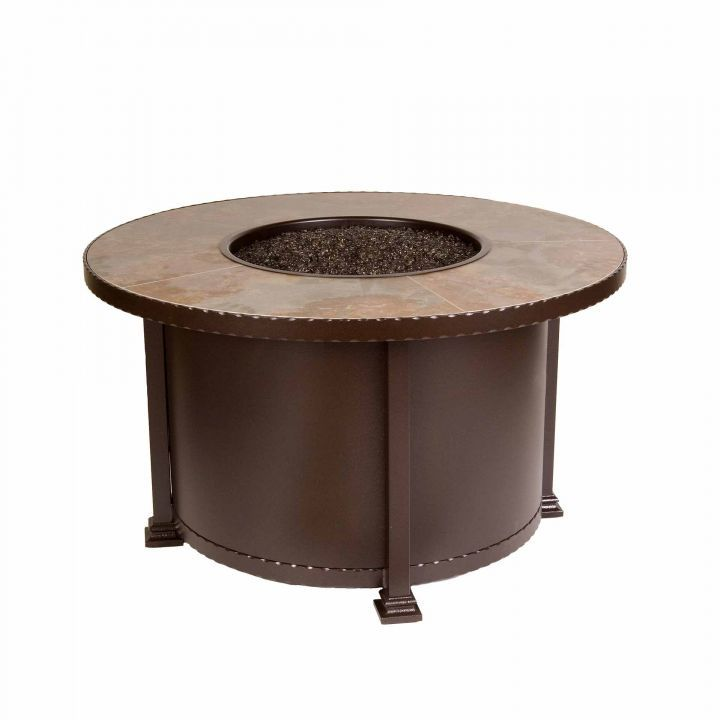 Ow Lee Casual Fireside 42 Quot Round Santorini Chat Fire Pit
