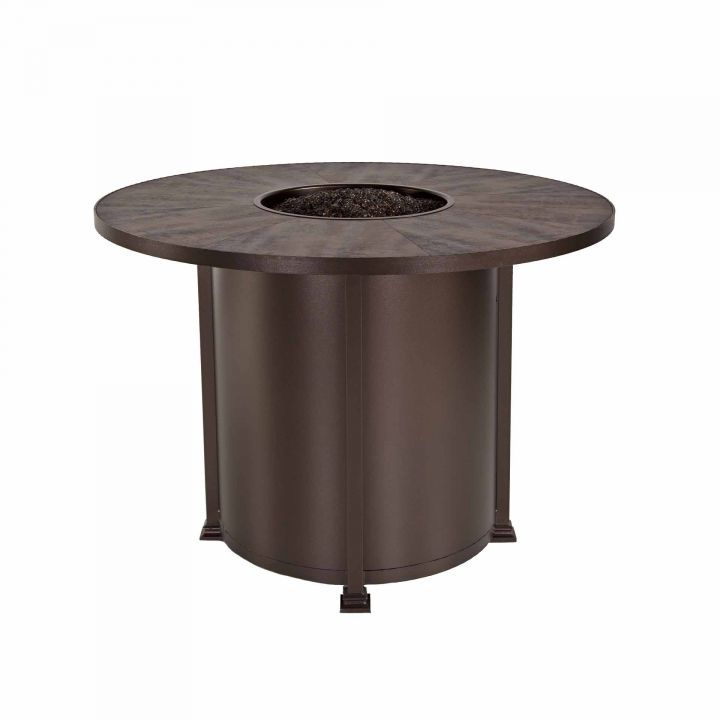 OW Lee Casual Fireside 54″ Round Santorini Counter Height Fire Pit