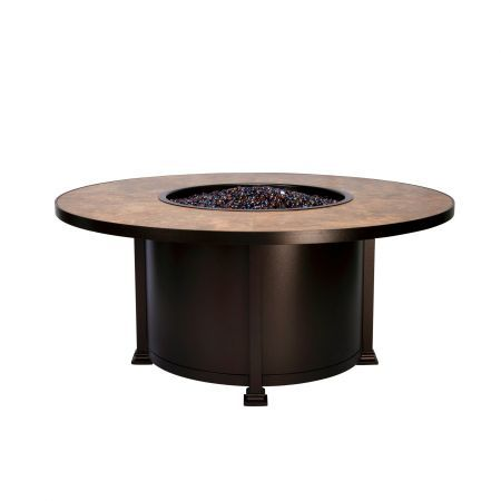 OW Lee Casual Fireside 54 Round Santorini Chat Fire Pit