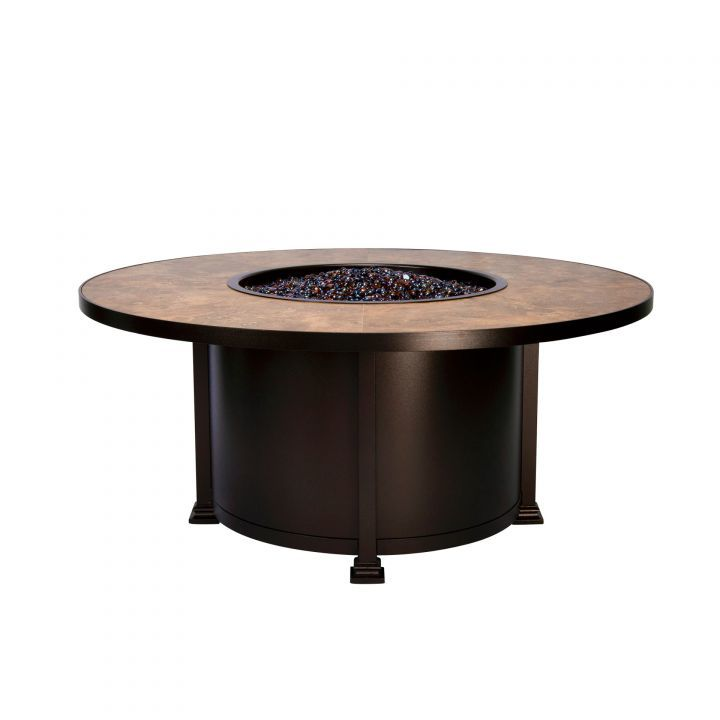 OW Lee Casual Fireside 54″ Round Santorini Chat Fire Pit