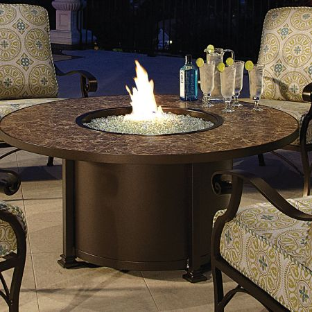 OW Lee Casual Fireside 54 Round Santorini Occasional Height Fire PitOW Lee Casual Fireside 54 Round Santorini Occasional Height Fire Pit